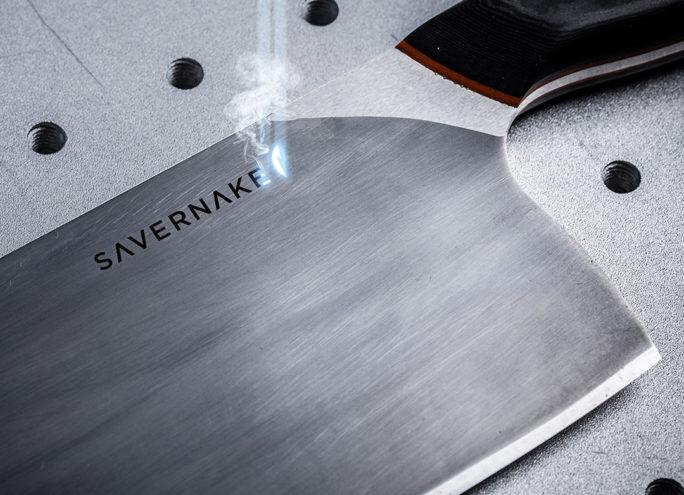 Laser blade engraving