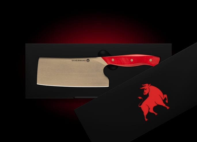 Cleaver with gift box